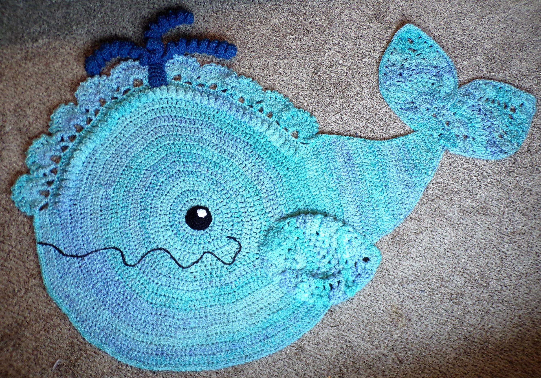 Crochet Whale Nursery Rug In 2020 Whale Nursery Rug Crochet Whale Ocean Themed Nursery