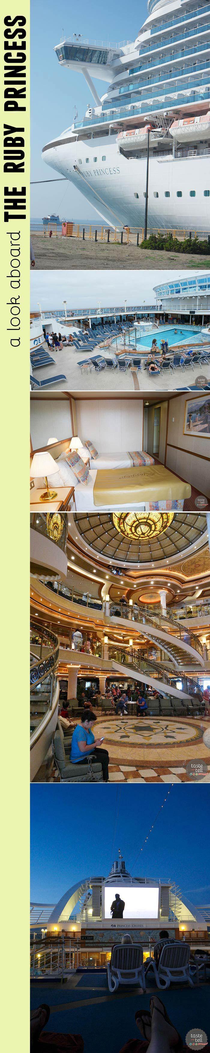 A look at the Ruby Princess – on of the Princess Cruises ships.