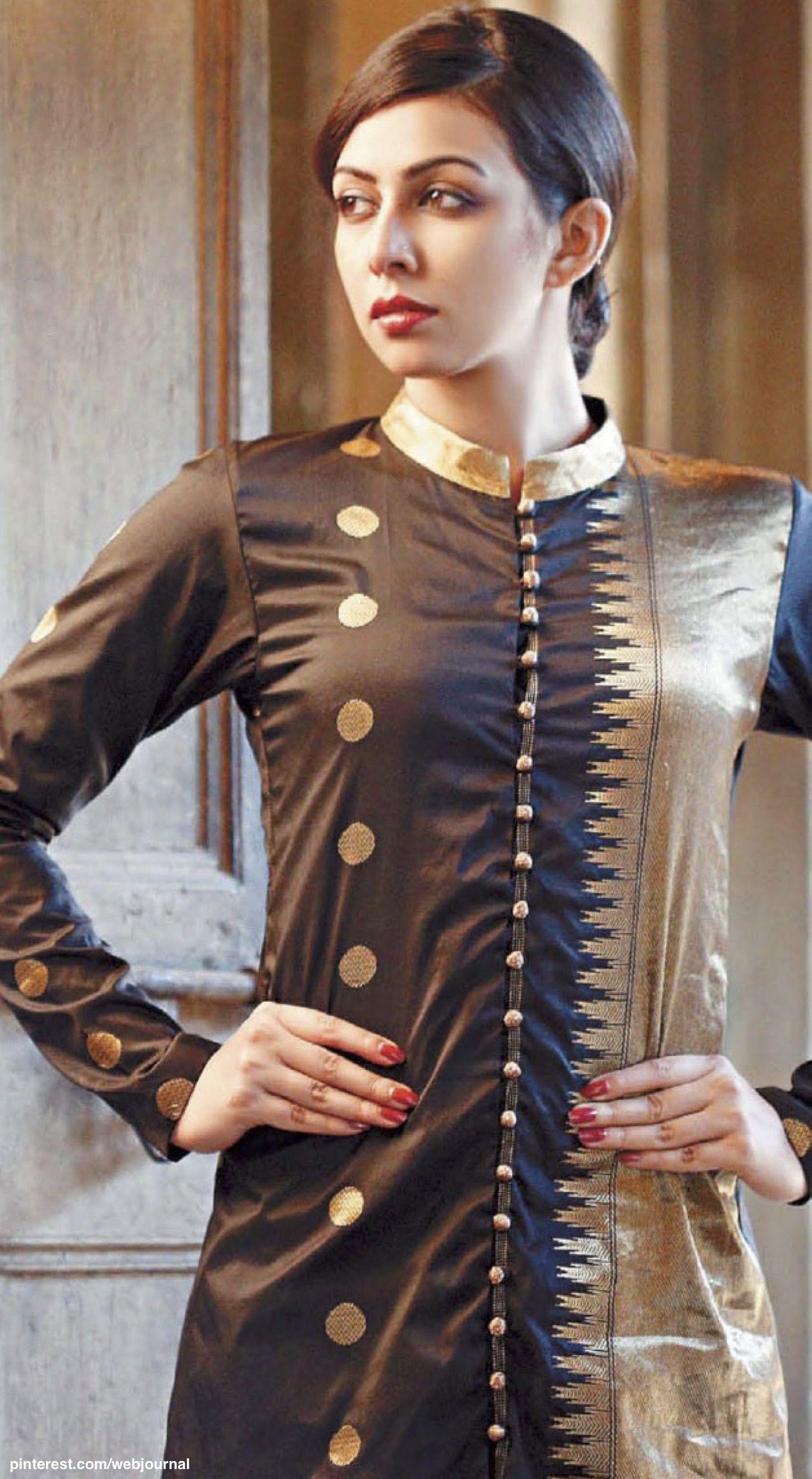 8d7a6852af Paromita Banerjee - Kanjivaram Suit | My treasure box | Kurti sleeves ...