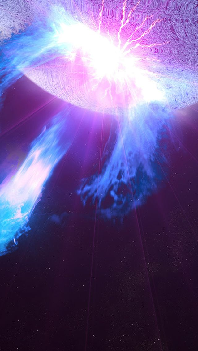 Outer Space Flare Light Dark Purple Pattern IPhone 5s Wallpaper