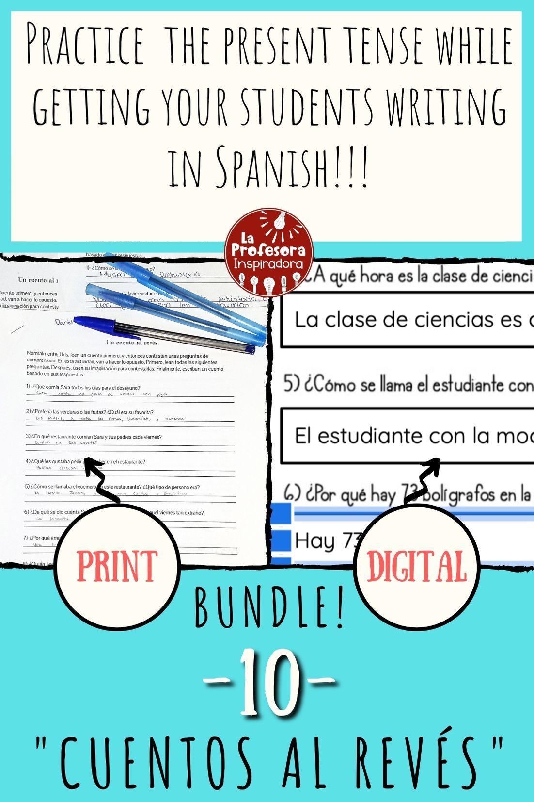 Students Have Fun Writing In Spanish Writing Activities Creative Writing Activities Vocabulary Activities [ 1653 x 1102 Pixel ]