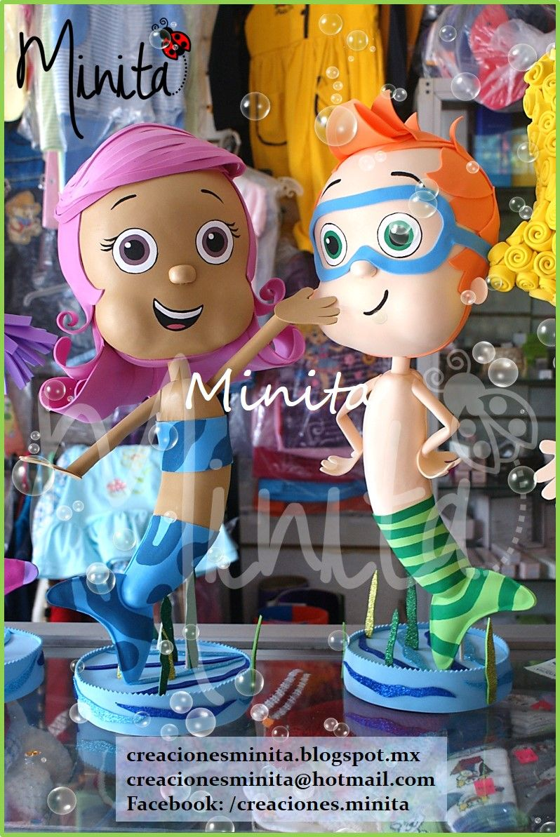 Molly y Nonny fofuchos Bubble Guppies | fiestas | Pinterest | Goma ...