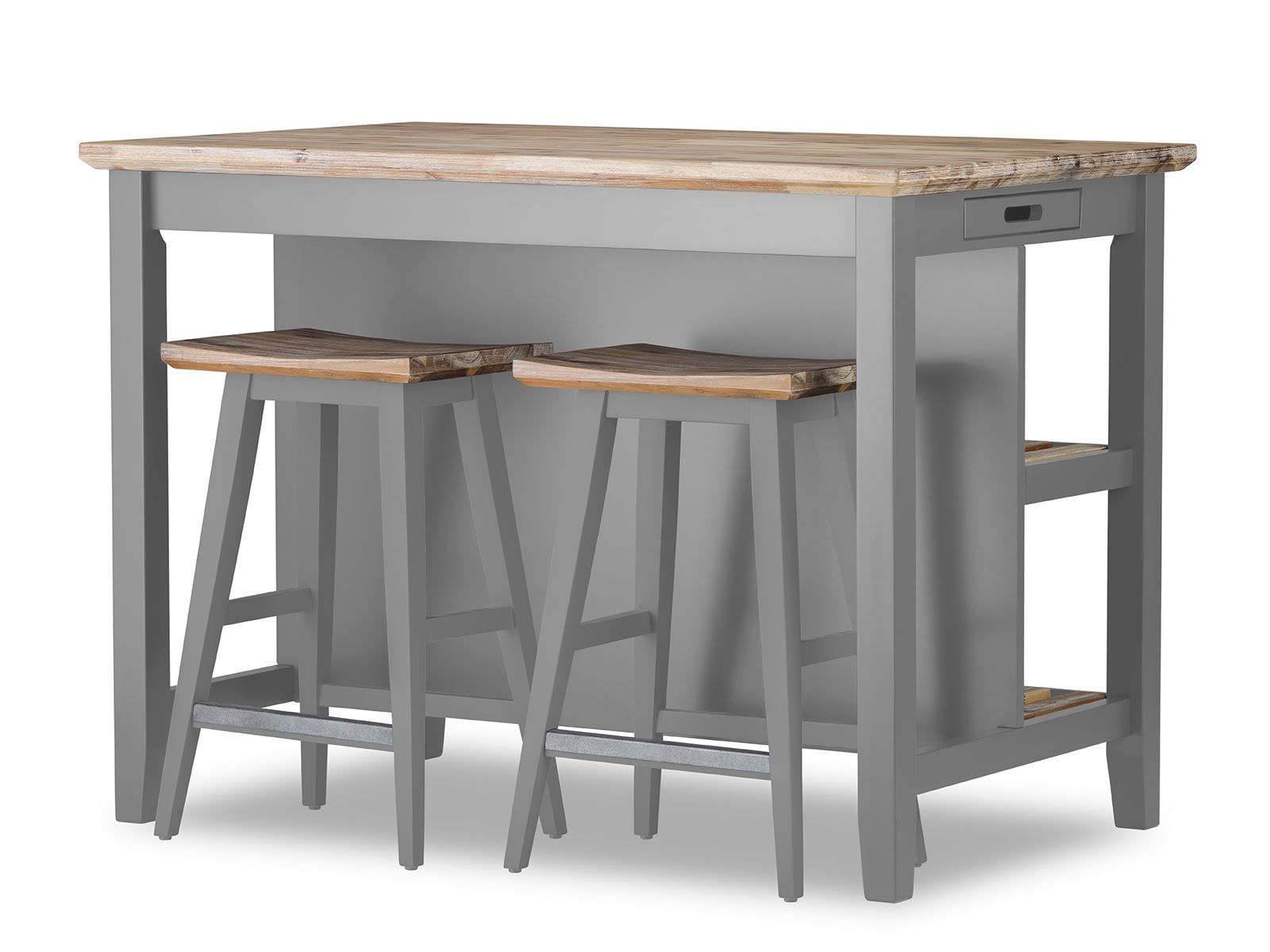 Florence Breakfast Bar With 2 Large Shelves Small Kitchen Island With Storage Ebay Small Kitchen Island Small Kitchen Kitchen Bar Table