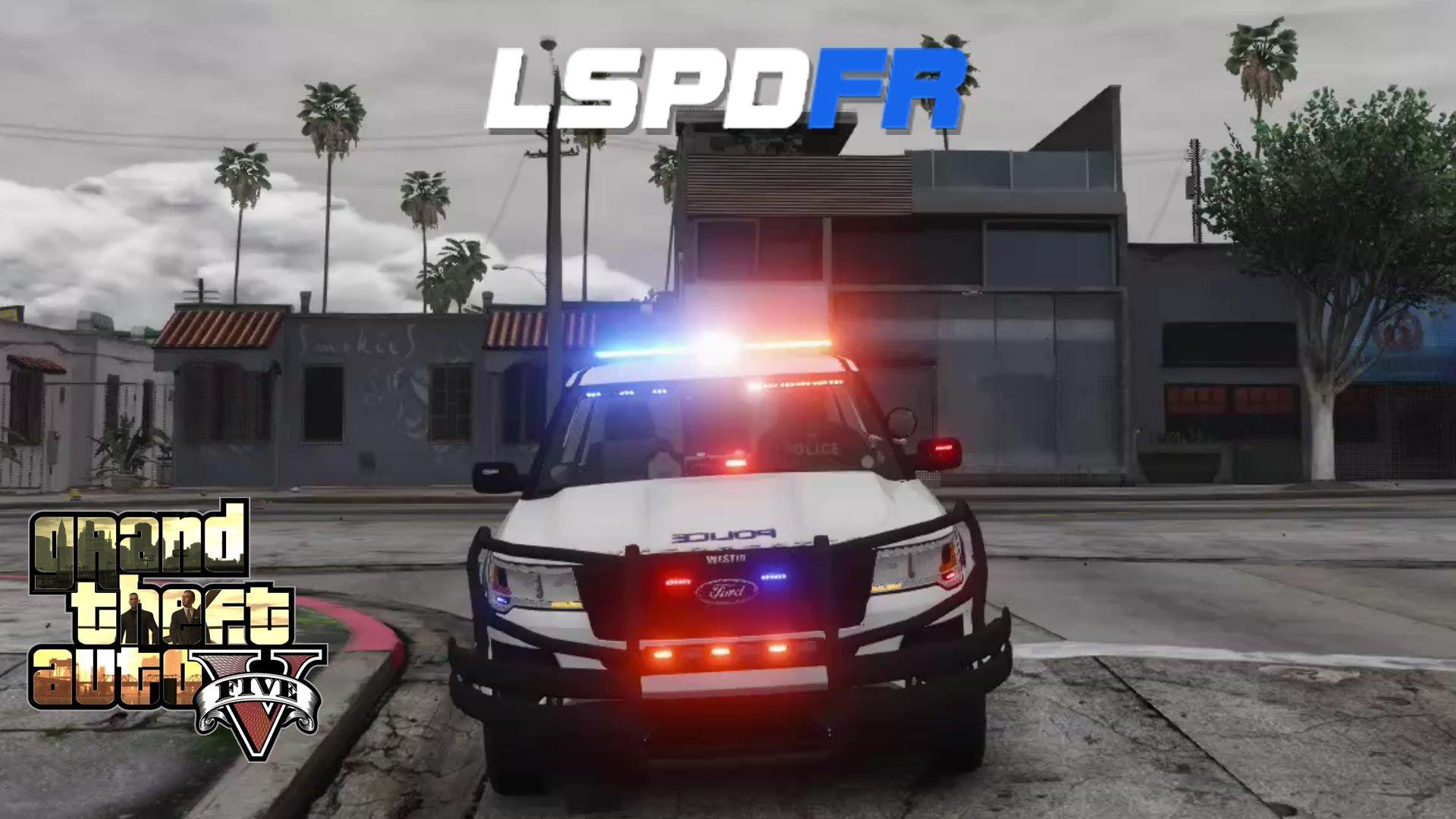 Unmarked police car gta 5 - Gta 5 Lspdffr Police Mod Supervisor Patrol