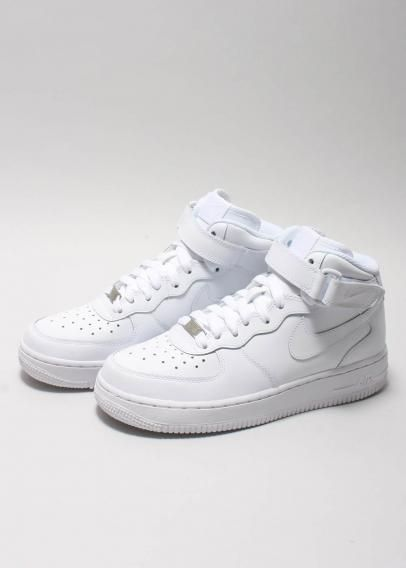 65d95f82125c White NIKE Air Force Ones (High Tops).