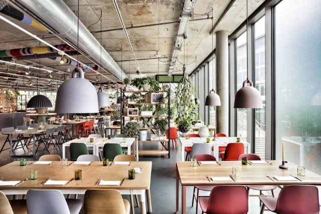 Cozy & colourful. #chairs #lamps #restaurant #modern #interior