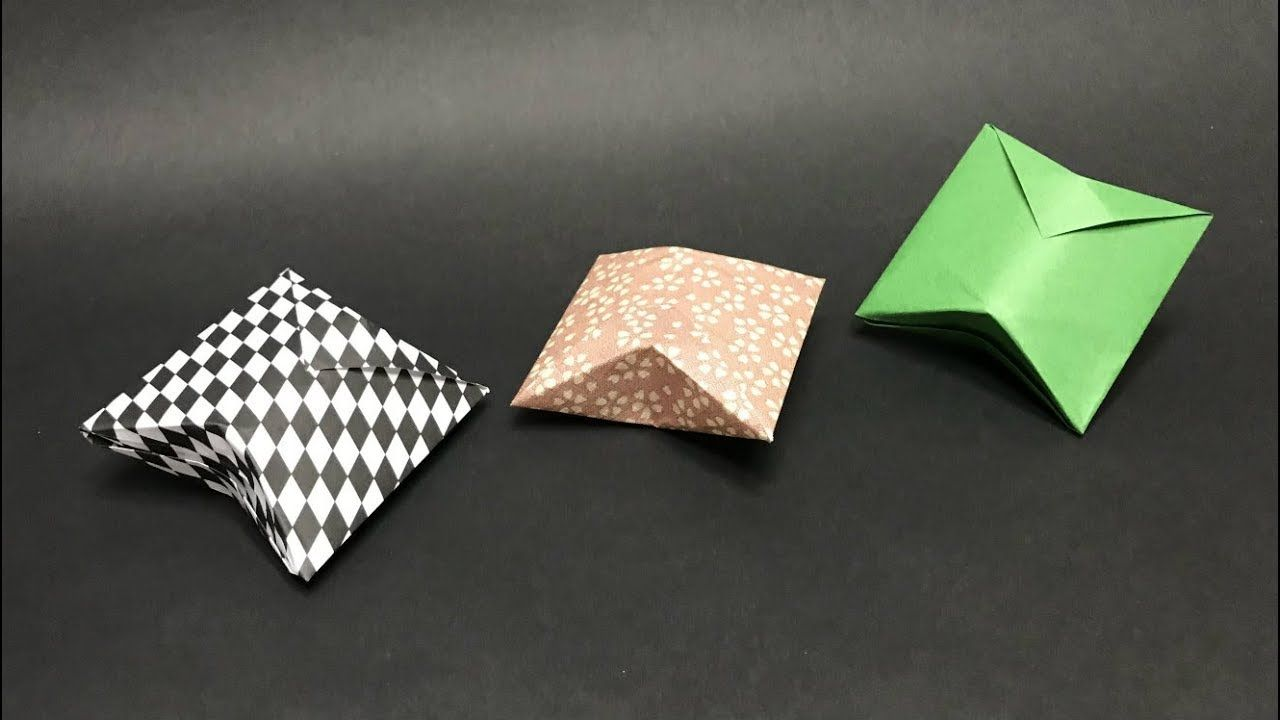 origami hydrangea flower box - YouTube | 720x1280