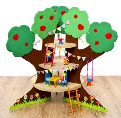 Cardboard Treehouse Punky Brewster Party Cardboard Dollhouse