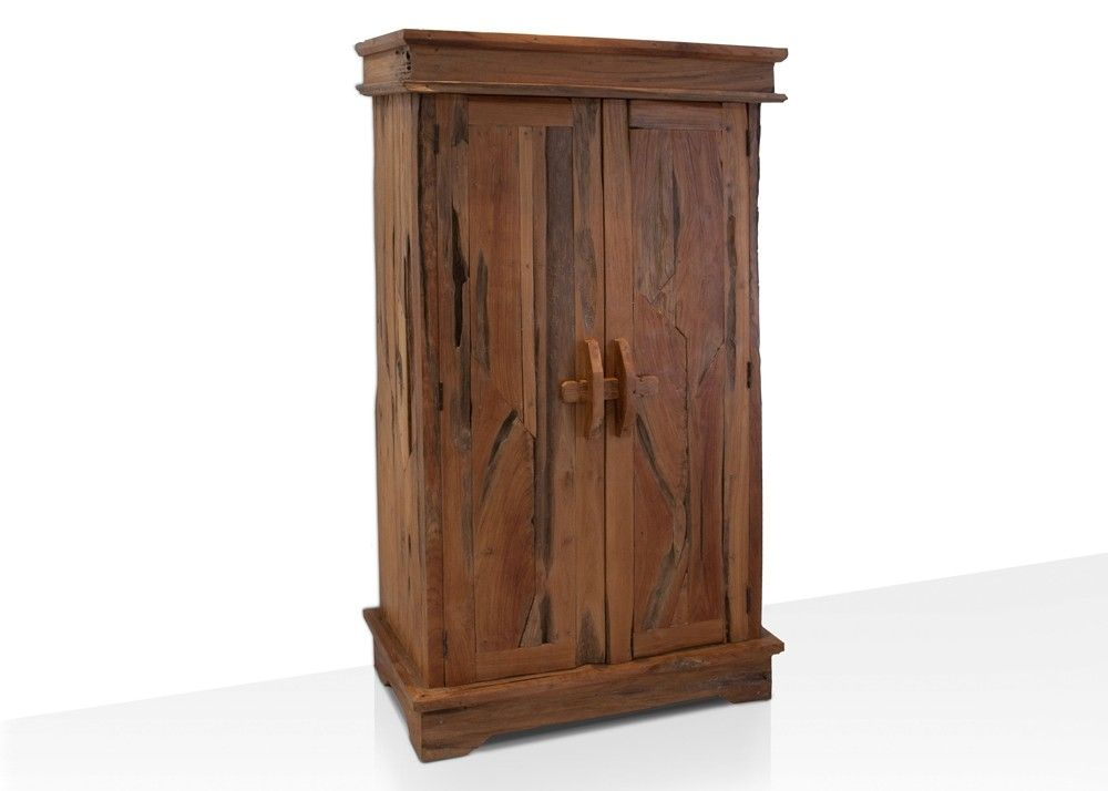 dielenschrank aus teak altholz garderobenschrank aus massivholz 21268 buy now at https www. Black Bedroom Furniture Sets. Home Design Ideas