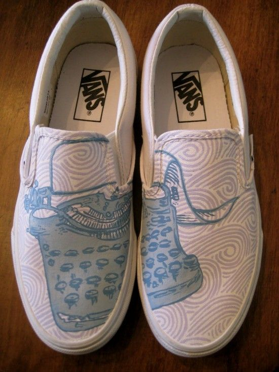 1fd418ecd54a5 Anna's Painted Shoes bring you custom art shoes with very chill ...