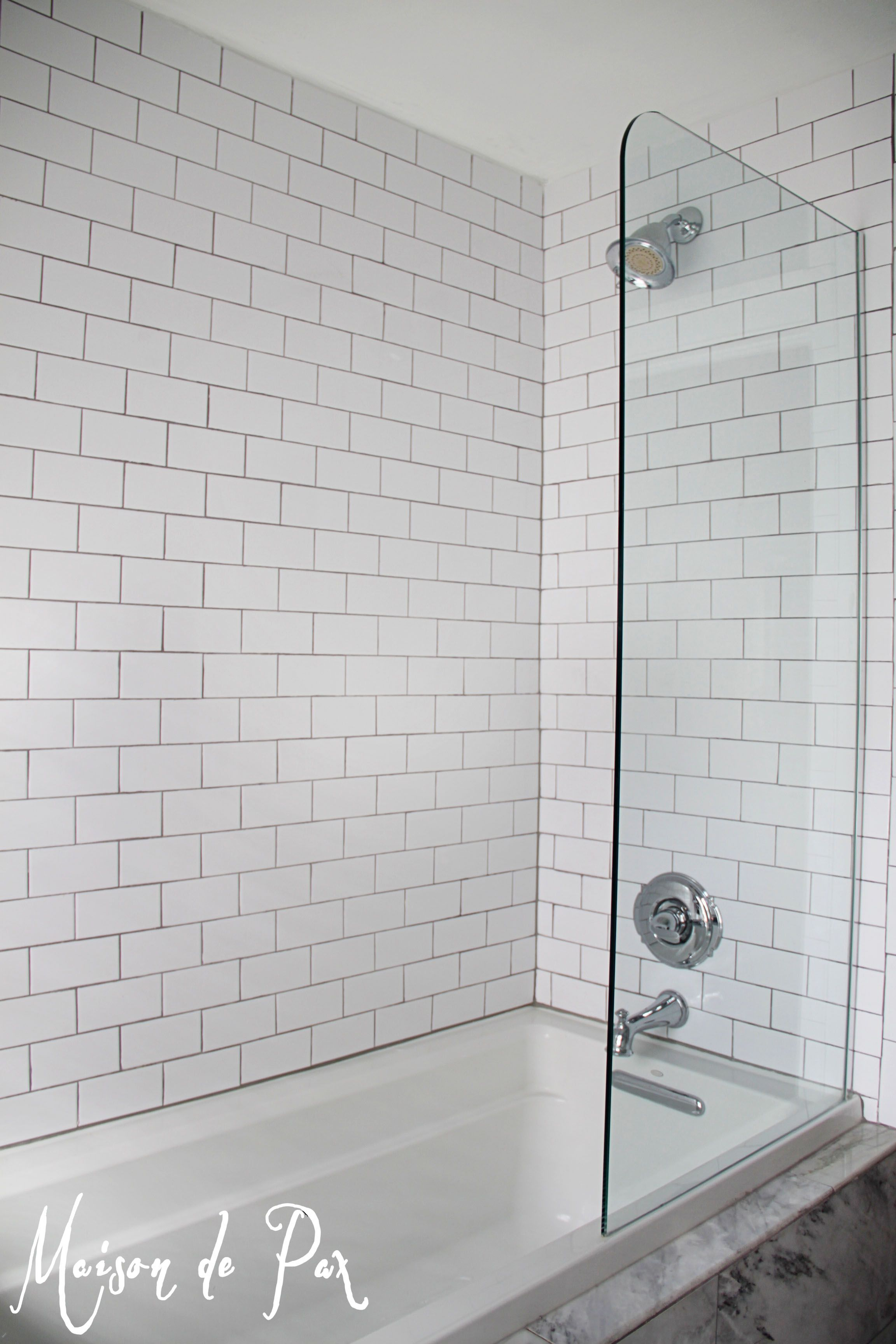 master bathroom tub shower combo. Gorgeous White And Gray Marble Bathroom  Master Bath Classic Chic Doors