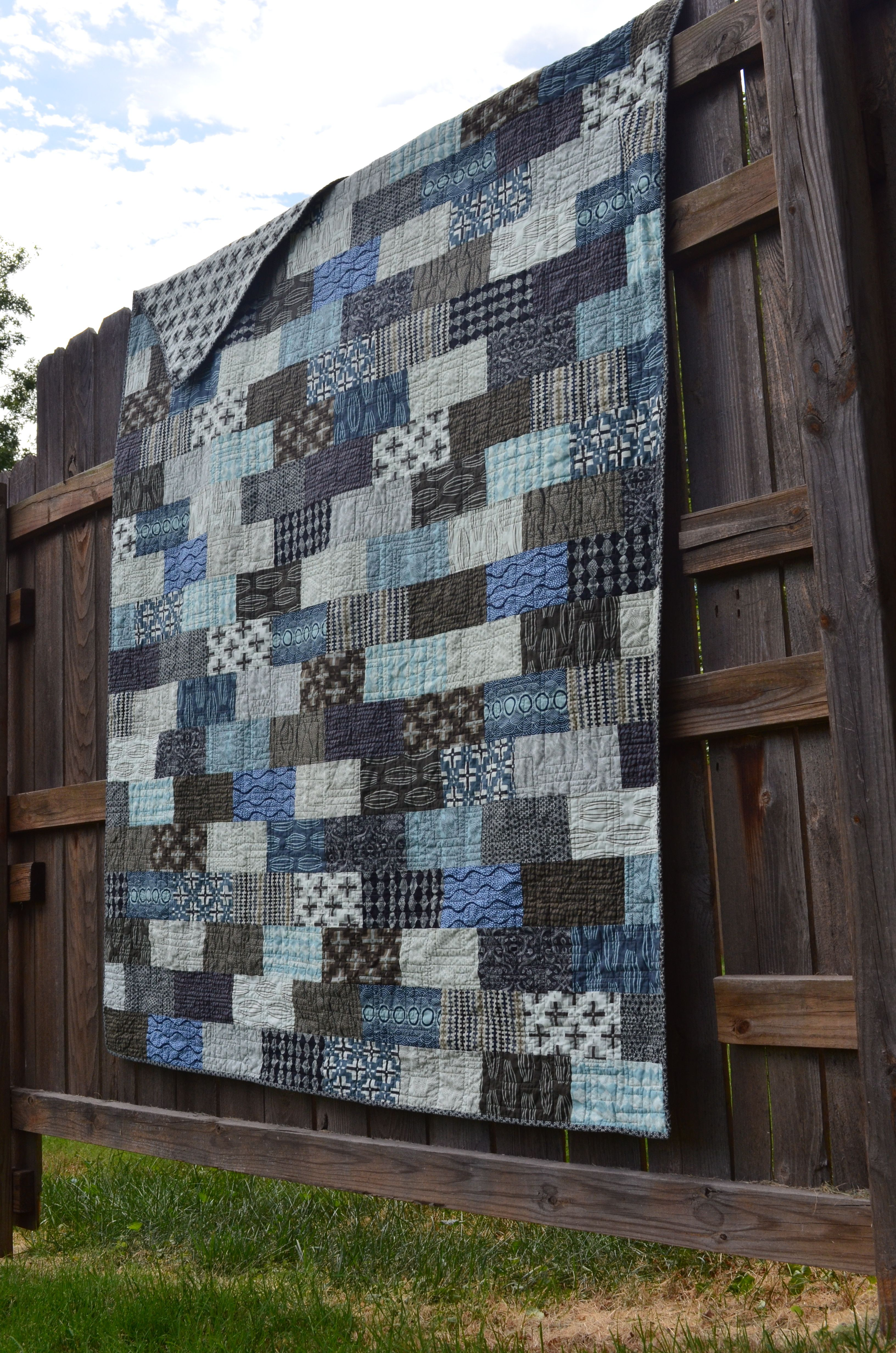 Staggered Bricks Pattern Love It Quilt Made By Mandy Smith Flannel Quilts Quilts Tiled Quilt