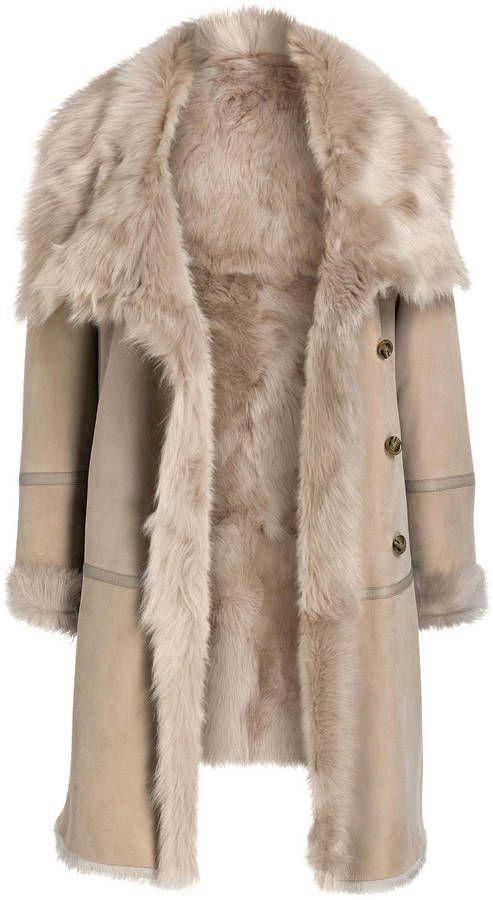8f419f7d1b8df1 CLOSED Lammfell-Mantel rosa | Fashion | Mantel kaufen, Lammfell und ...