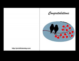 free printable wedding congratulation card   Ideas for office ...