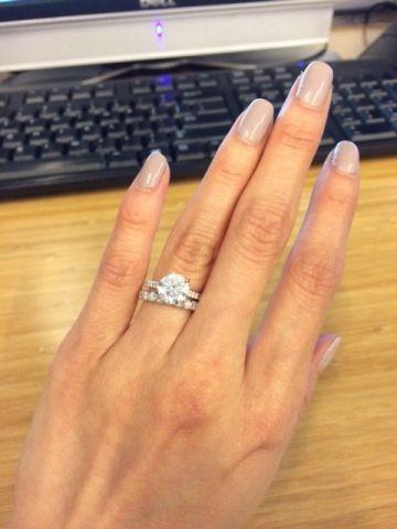 Merveilleux 2 Carat H/VS2 Size 4 Finger.