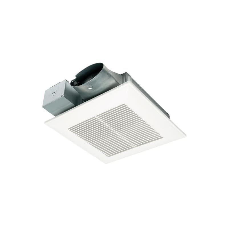 Panasonic Fv 0510vs1 White 100 Cfm 0 9 Sone Ceiling Mounted Hvi Certified Exhaust Fan Exhaust Fan Ceiling Fan Design Bathroom Exhaust Fan
