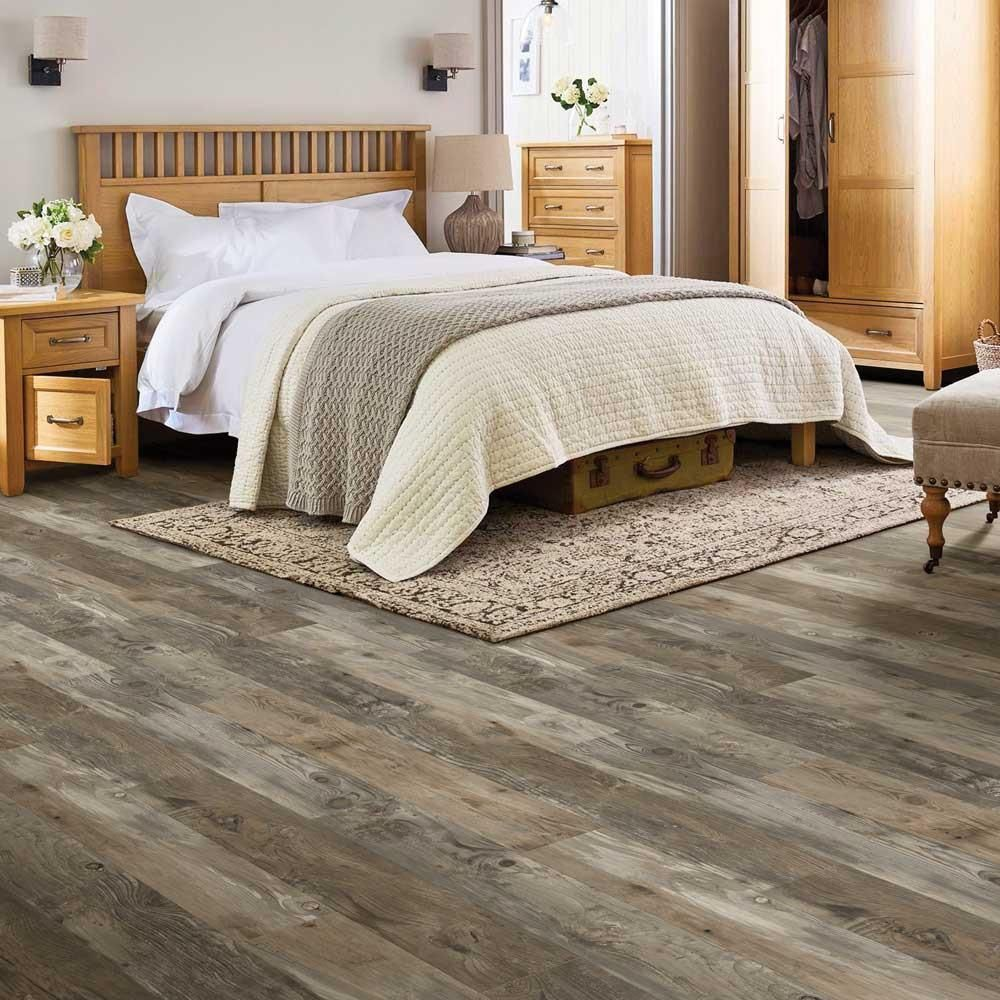 Home Decorators Collection Reclaimed Wood Grey 8 In Wide X 48 In Length Click Floating Luxury Vinyl Plank Flooring 18 22 Sq Ft Case 360491 The Home Depo Wood Floors Wide Plank Vinyl