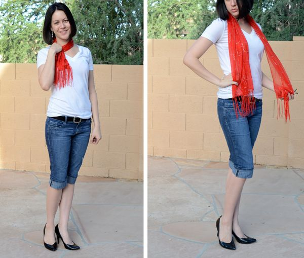 This model is wearing a red bra under her white shirt! Did ...
