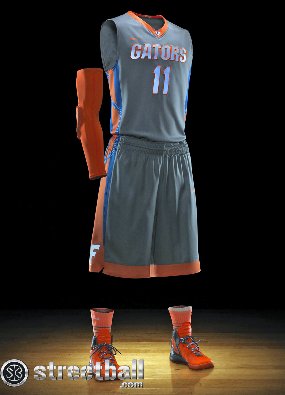 1369ffdd Cool nike uniforms | Florida Basketball Uniform Nike Hyper Elite Platinum -  Streetball