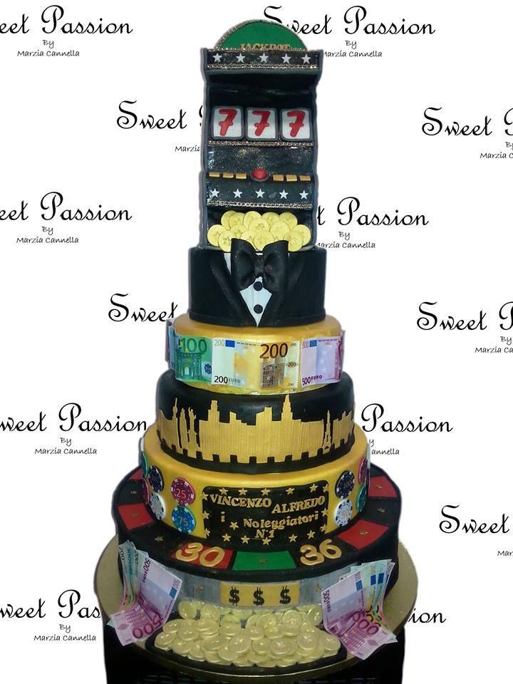 Torta Casino Las Vegas Interamente Realizzata A Mano In