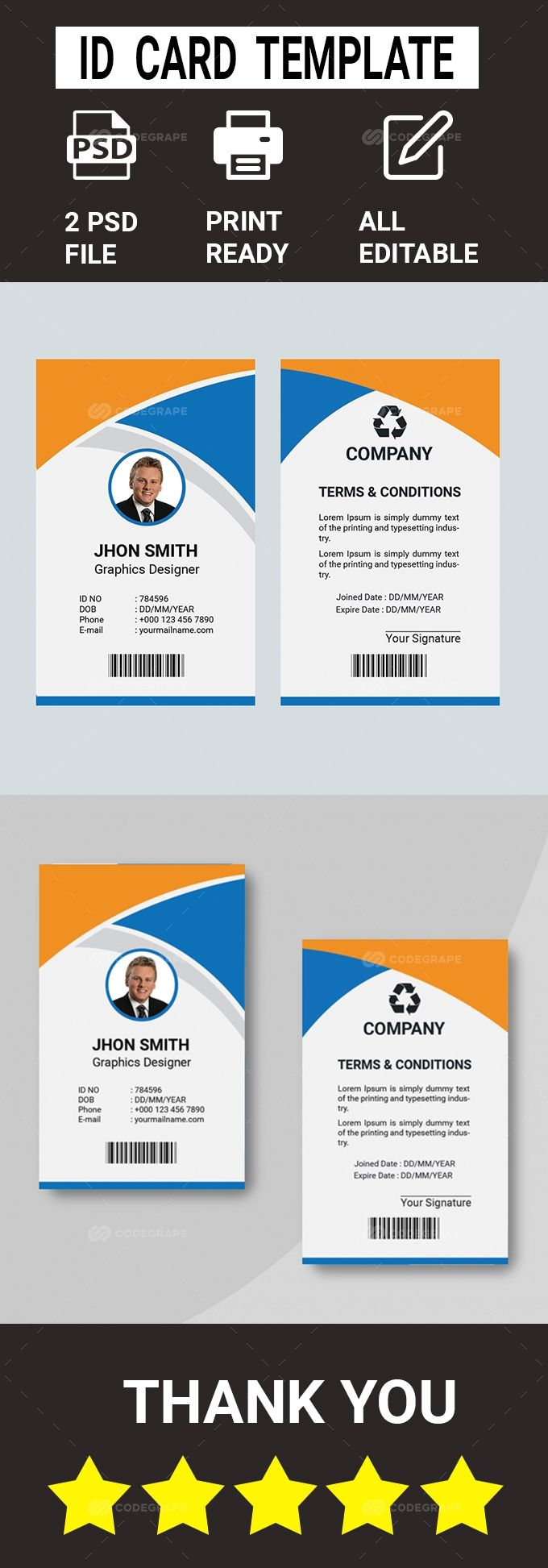 Id Card Template In 2020 Id Card Template Card Template Templates