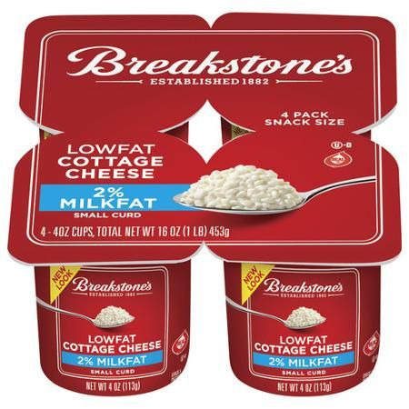 Breakstone S Small Curd 2 Milkfat Lowfat Cottage Cheese 4 Ct 16 0 Oz Blister Pack Walmart Com
