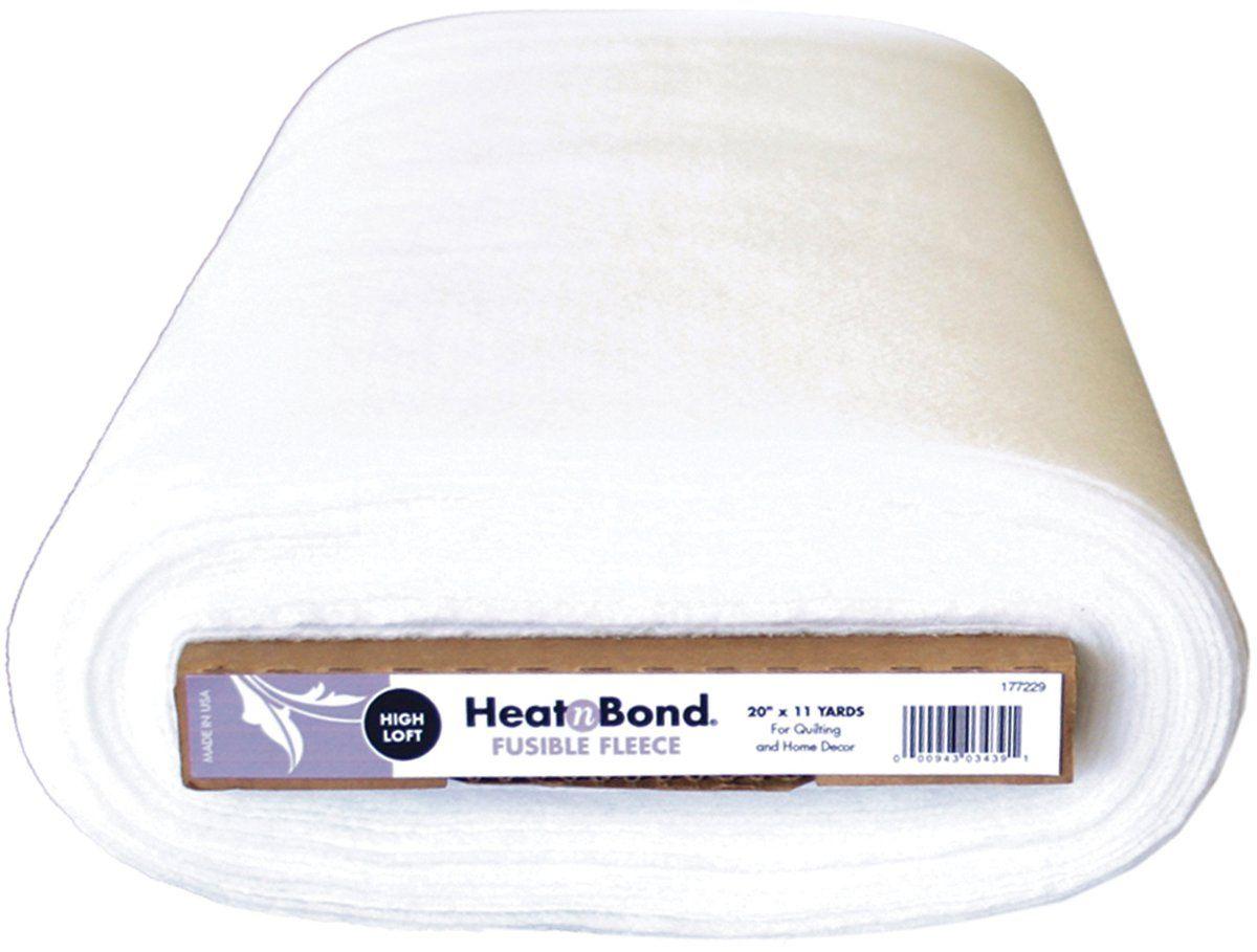 Heat N Bond Extra High Loft Fleece Fusible 20 Quot X11 Yards White Quilt Batting Fiskars Quilts