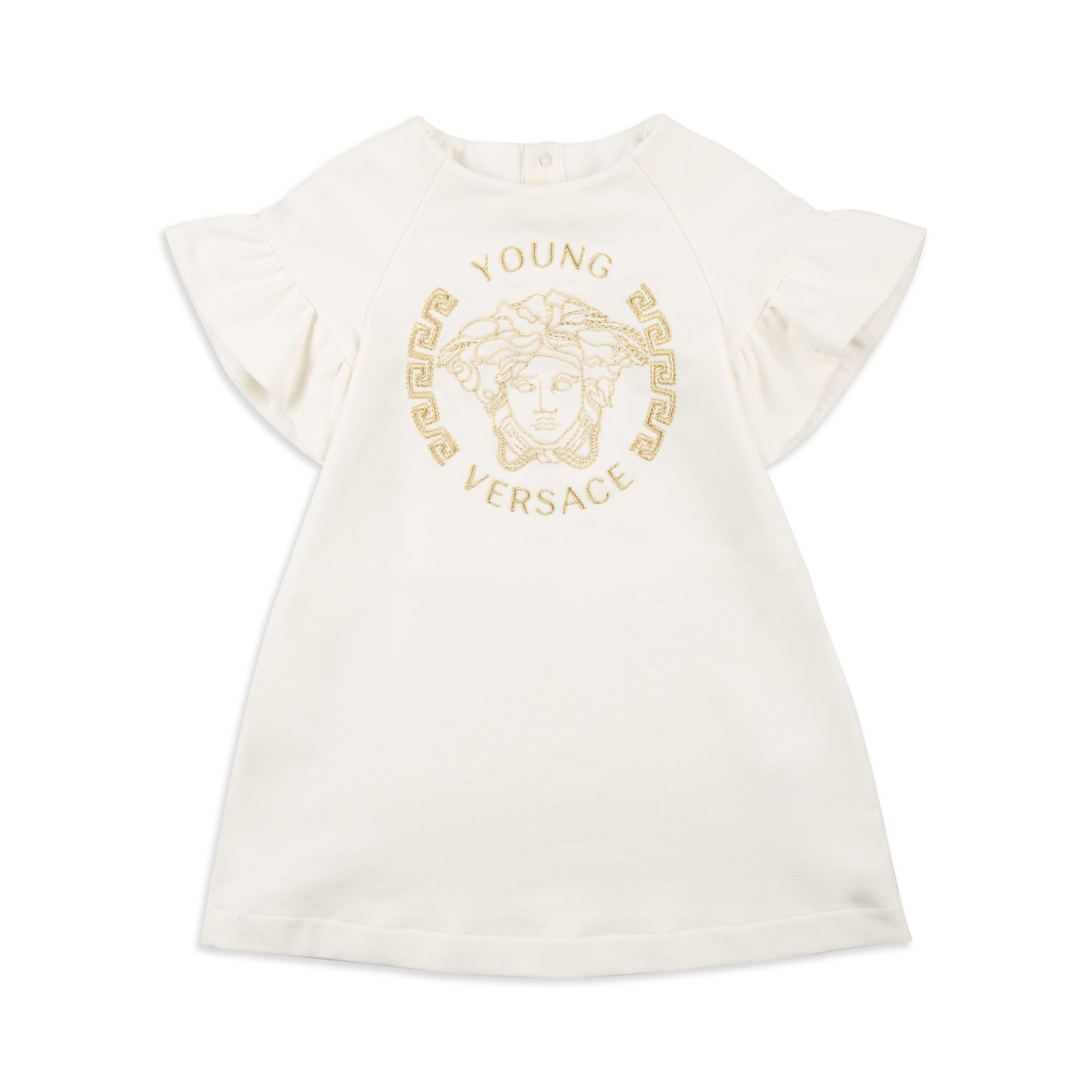 Baby Girls Medusa Head Dress White by Young Versace