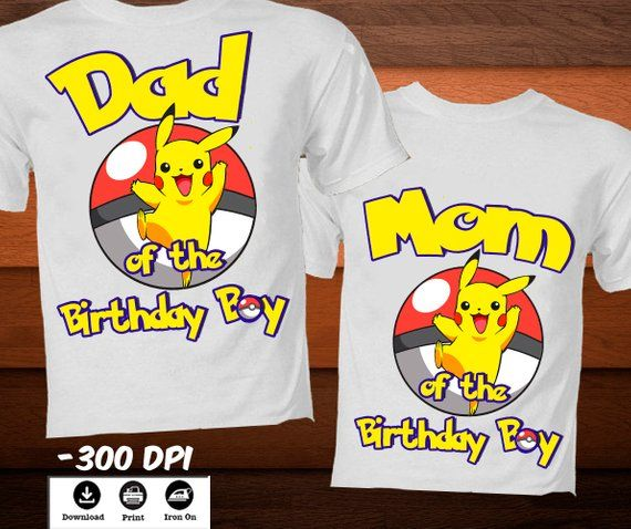 graphic relating to Printable Iron on named Pokemon Mother of the Birthday Boy Blouse-Printable Iron upon