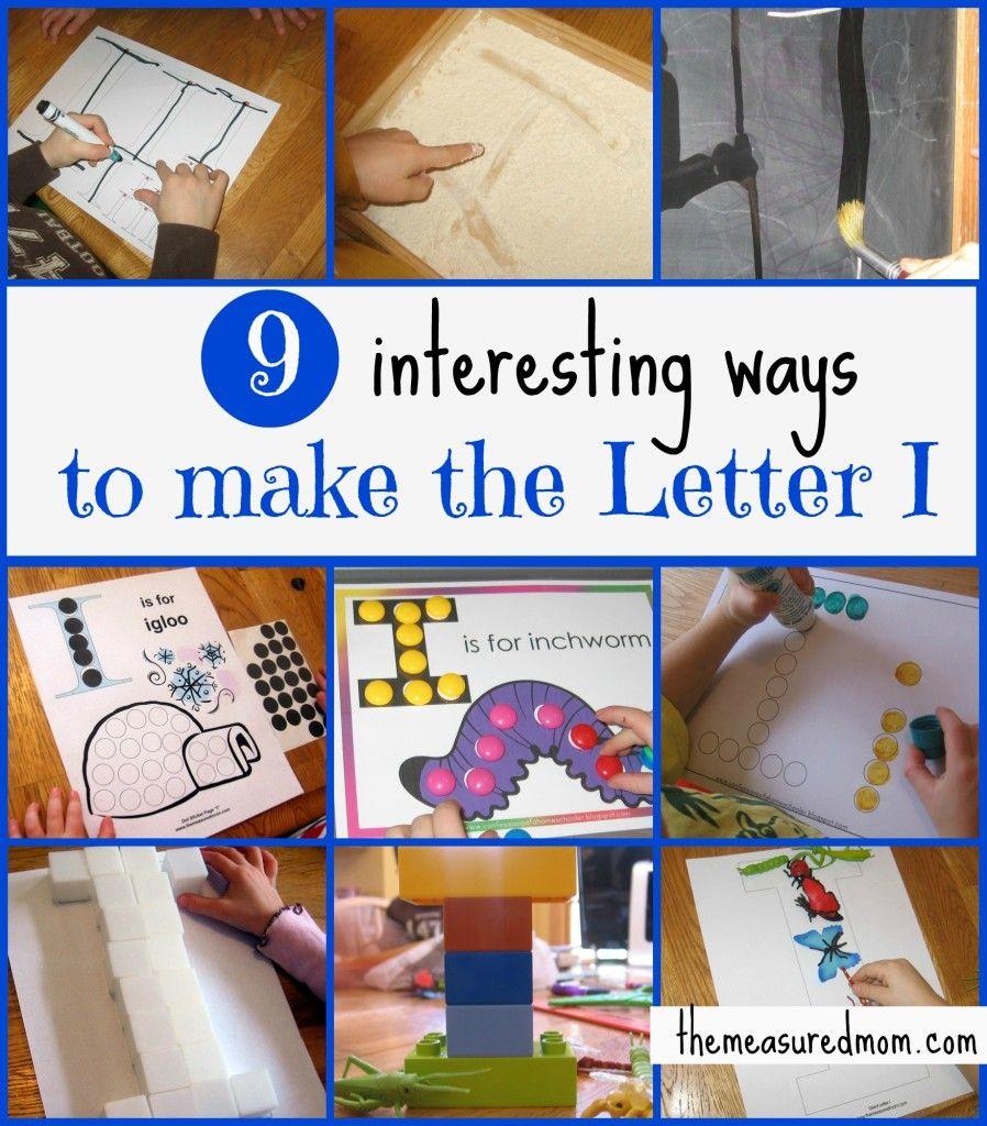 Preschool Fine Motor Practice Ways To Make The Letter I The Measured Mom Alphabet Activities Preschool Preschool Fine Motor Letter I Activities [ 1024 x 898 Pixel ]