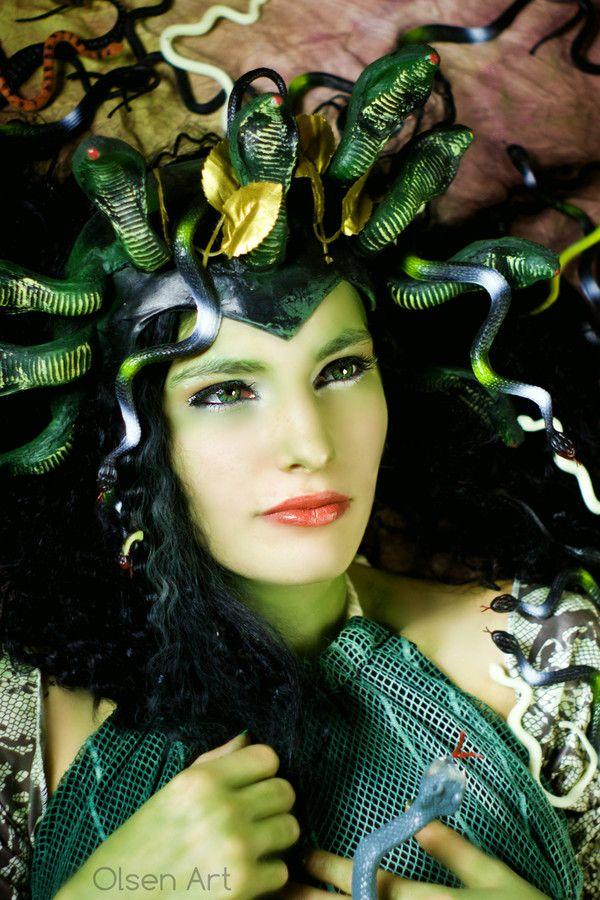 medusa hair costume medusa hair of snakes by lynda medusa olsen art