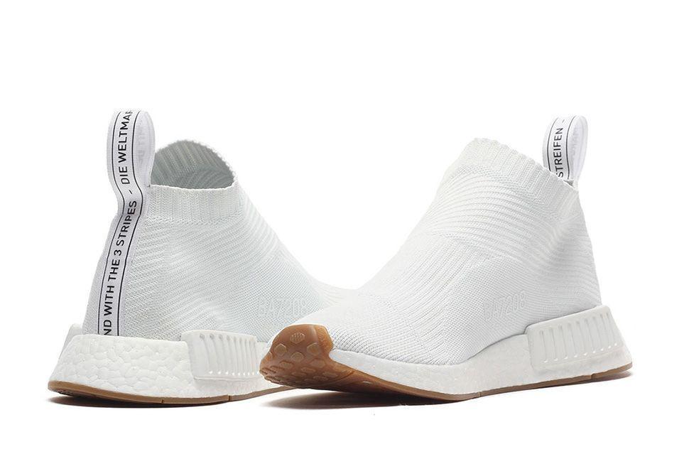 8a7e2c1cdf46 Adidas NMD CS1 Triple White Gum City Sock Primeknit PK Boost BA7208 Mens Sz  10 (eBay Link)