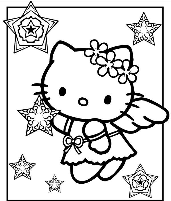 Hello Kitty Christmas Coloring Pages Http Designkids Info Hello Kitty Christmas Coloring Pages Html De Wallpaper Hello Kitty Halaman Mewarnai Hello Kitty