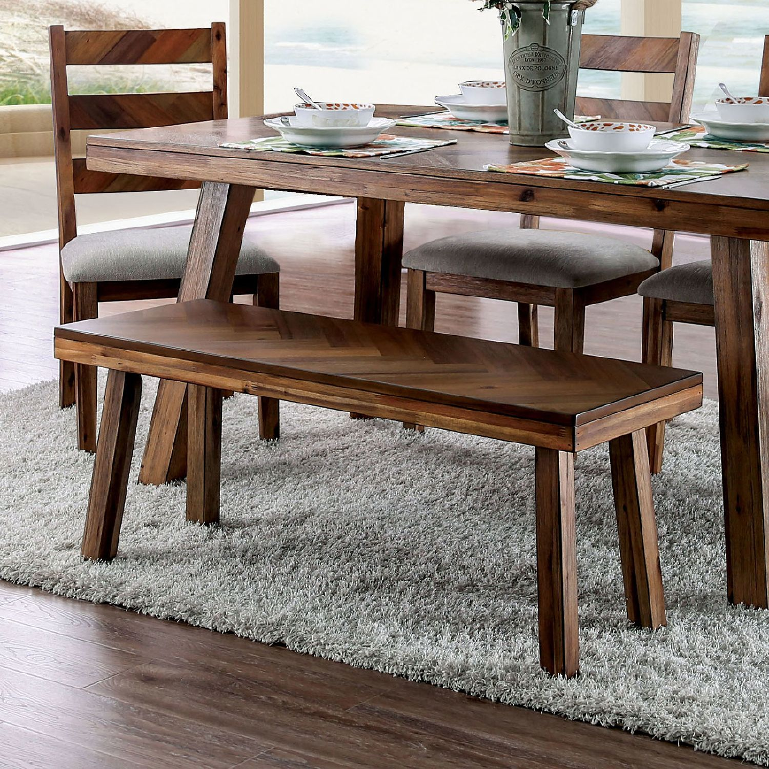 27++ Solid wood dining table and bench Best