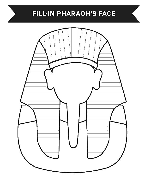 Print Your Face in Ancient Egypt Pharaoh Costume Coloring Page ...