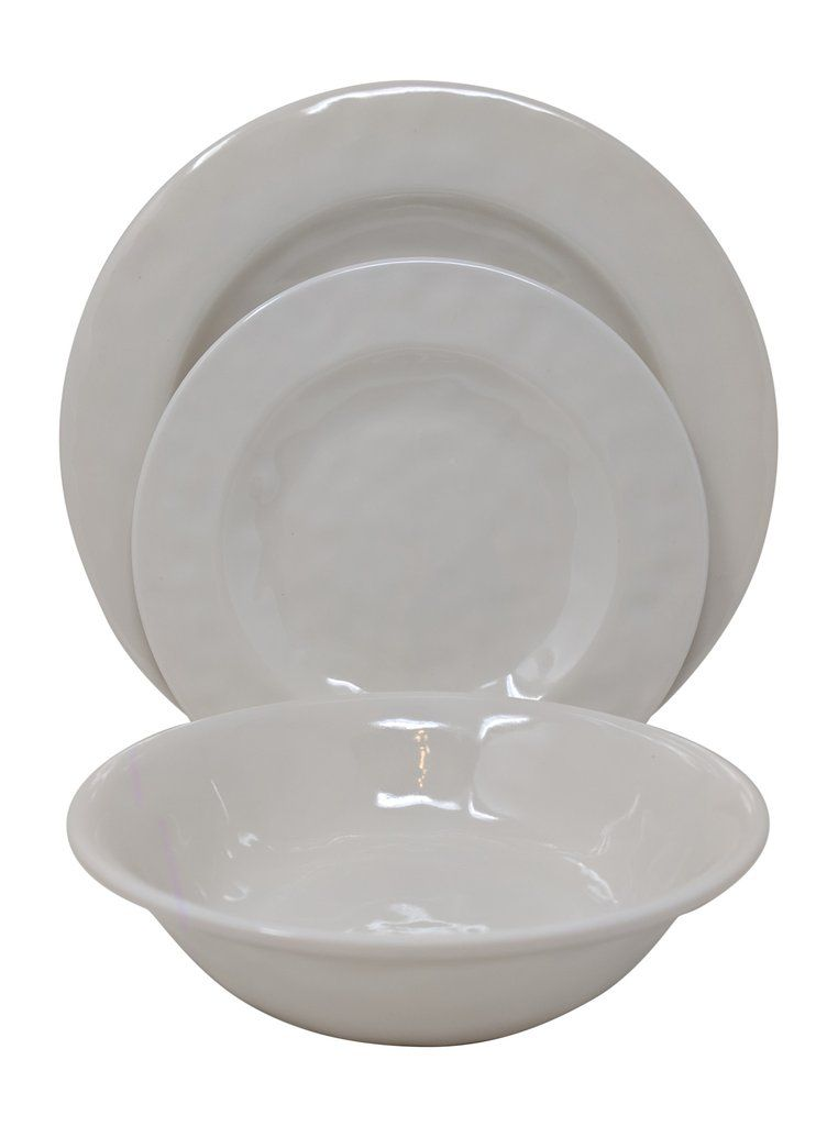 Gianna/'s Home 12 Piece Solid Color Melamine Dinnerware Set Service for 4