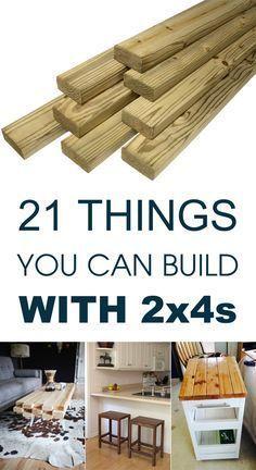 Aqui estão 21 projetos de carpintaria brilhantes que começam com 2x4s básicas