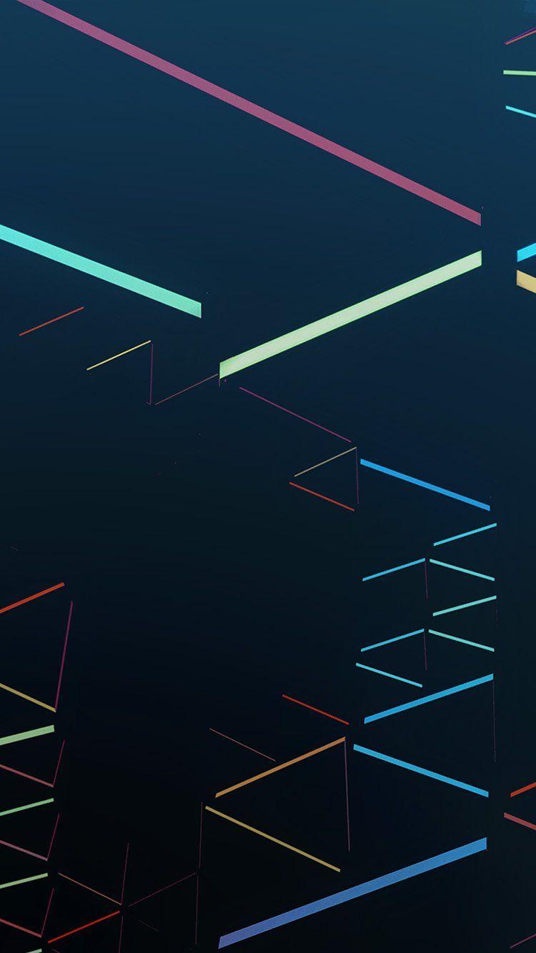 Nexus 7 Abstract Line Rainbow Blue Pattern Wallpaper Hd Iphone Abstract Lines Blue Pattern Iphone 6 Plus Wallpaper