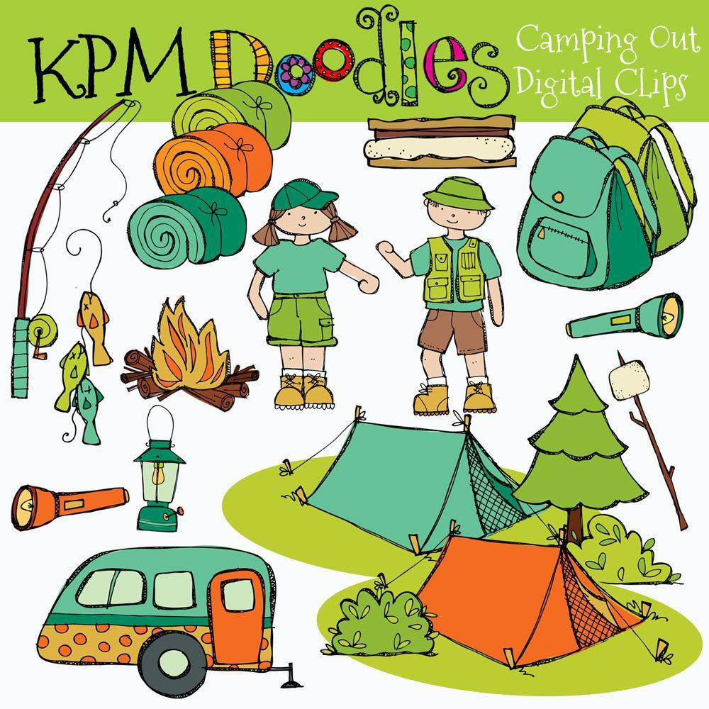 KPM Doodles   scrapbook inspiration   Pinterest   Clip art, Camping ...