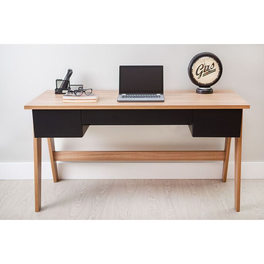 Modern Office Desk With 3 Drawers Hanover Black Hanover Black Size Medium Office Best Home Office Desk Modern Office Desk Home Office Desks