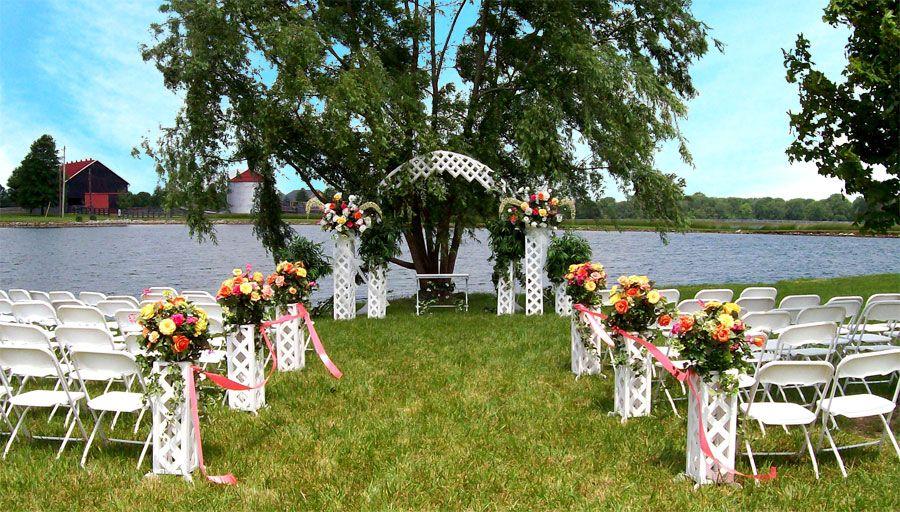 Small Outdoor Wedding Ideas: Small Backyard Wedding Decoration Ideas