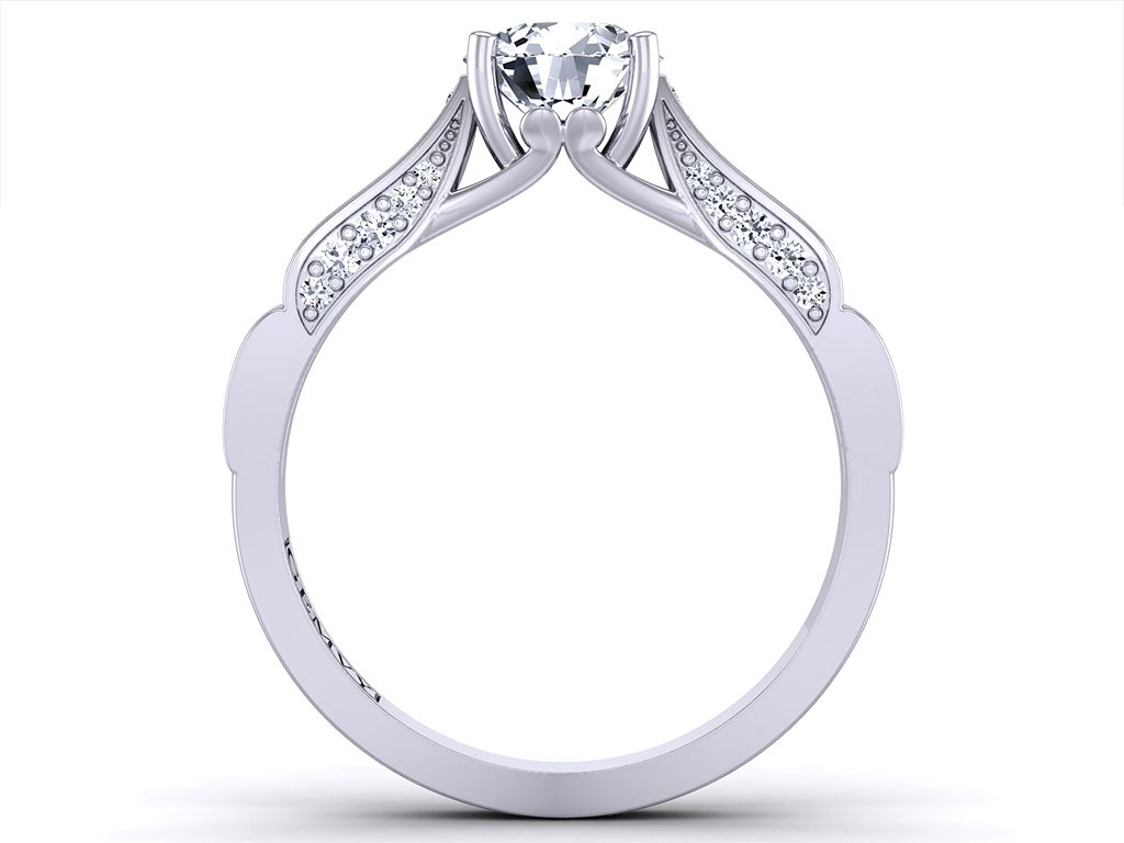 Pave diamond engagement ring anillos de compromiso jewelry