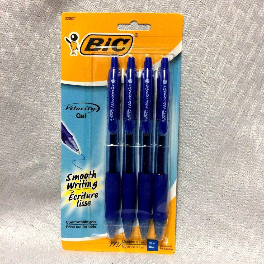 Bic Velocity Blue Gel Pen Retractable