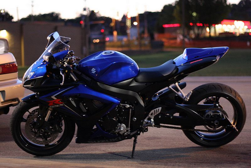 Well I Have Acquired A Taste For Expensive Motorcycles Ana Gsxr 600 Blue Motorcycle Super Bikes Suzuki Gsxr