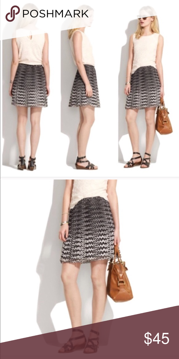 6387b89708 Madewell • Pleated Mini Skirt Chevron Print 4 - Madewell - Pleated Mini  Skirt -