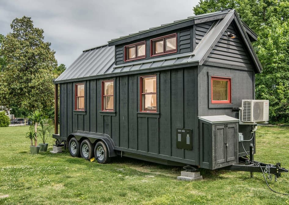 Exterior Riverside Tiny Home by New Frontier Tiny Homes from