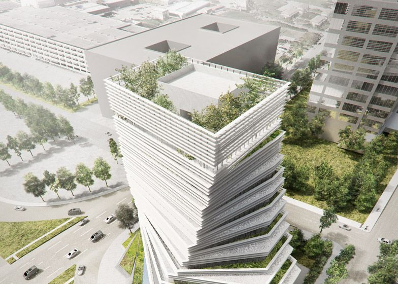 """Kengo Kuma to """"fuse nature and architecture"""" with twisted"""
