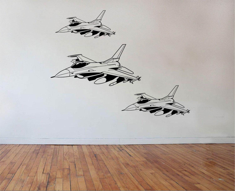 Fighter Jet Wall Decal Sticker Art Decor Bedroom Design Mural Etsy Decal Wall Art Sticker Art Wall Decals
