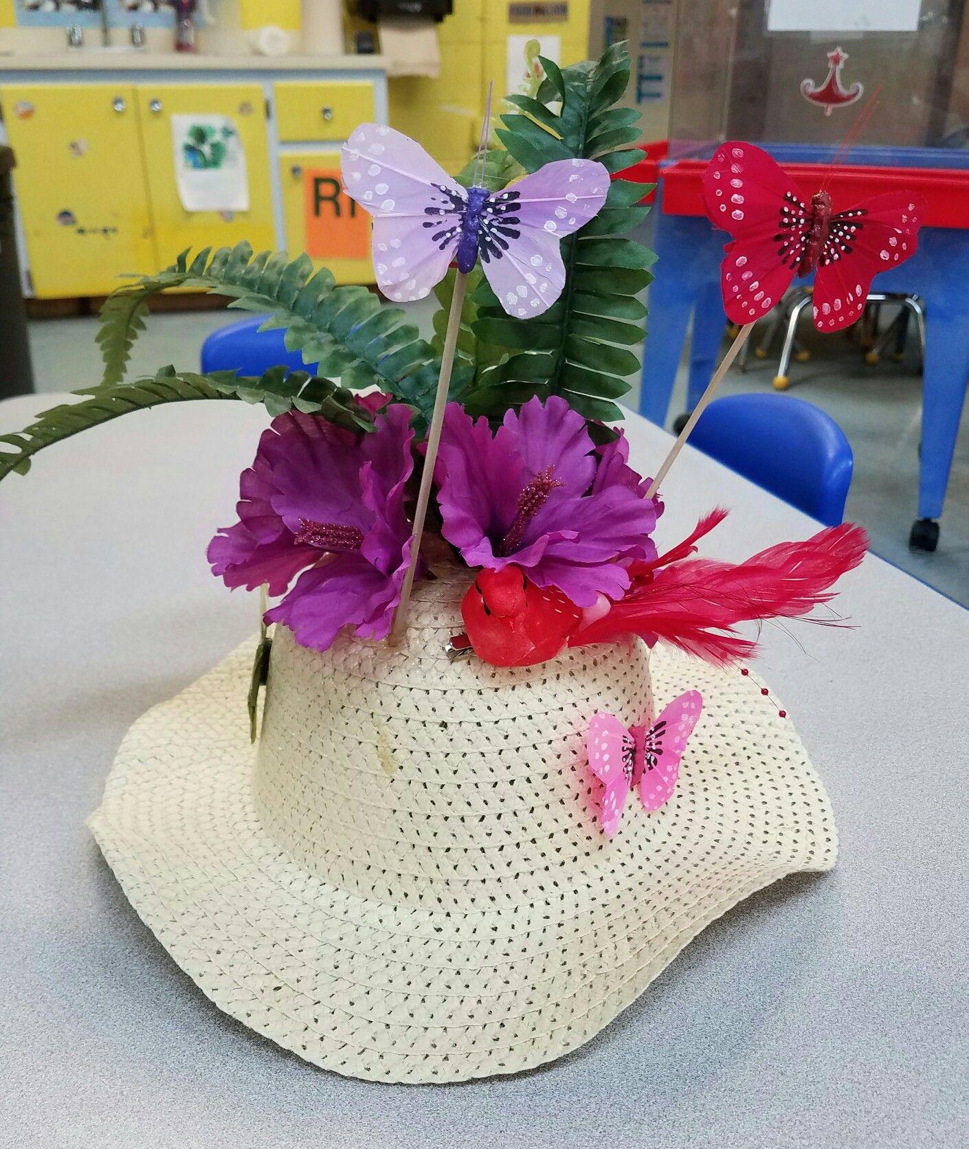 Crazy Hat Decoration Ideas: Crazy Hat Day! Spring Fever!