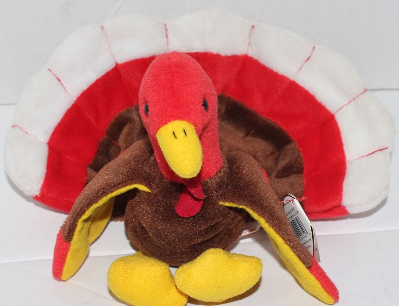 Rare 1996 Ty Beanie Babies Original Gobbles the Turkey with Errors and  Attached Tag c51d45b9ca2
